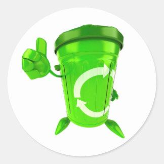 Green Recycling Bin Stickers