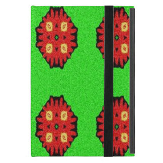 Green Red abstract pattern iPad Mini Cover