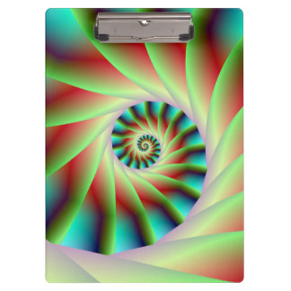 Green Red and Blue Spiral Steps Clipboard