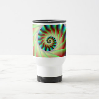 Green Red and Blue Spiral Steps Mug