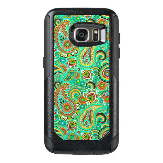 Green Red And Yellow Paisley OtterBox Samsung Galaxy S7 Case