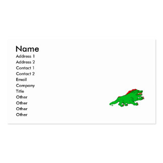 Green-Red Clawed Dragon Business Card