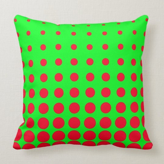 Green & Red Colourful Vector abstract dot Cushion