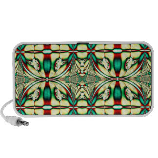 green red holiday fractal portable speakers