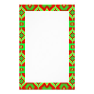 green red holiday pattern stationery
