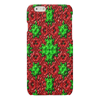 green red modern abstract pattern iPhone 6 plus case