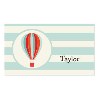 Green, Red, Orange Hot Air Balloon Pack Of Standard Business Cards