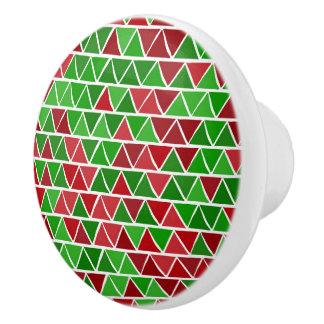 Green red pattern Ceramic Knob