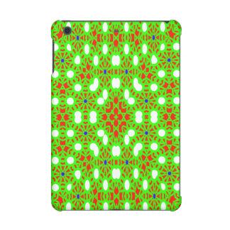 Green red pattern iPad mini retina case