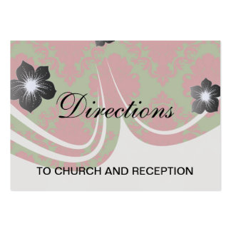 green red romantic christmas damask pack of chubby business cards