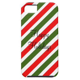 Green & Red Striped Design Christmas Candy Cane iPhone 5/5S Case