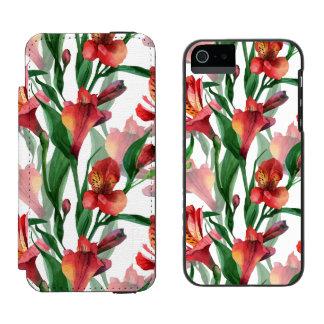 Green & Red Summer Lili Pattern Illustration Incipio Watson™ iPhone 5 Wallet Case