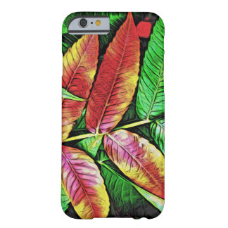 Green Red Tree Leaves Nature Colors Barely There iPhone 6 Case