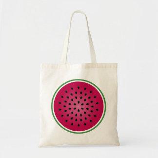 Green Red Watermelon Design Tote Bag