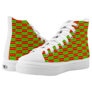 Green Red Yellow Geometric Pattern Zipz High Tops