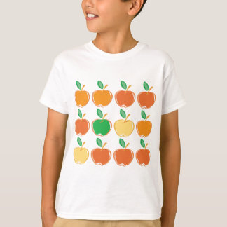 Green, Red, Yellow & Orange Apples T-Shirt