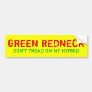 GREEN REDNECK BUMPER STICKER