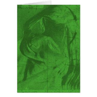 Green Reflections Greeting Card