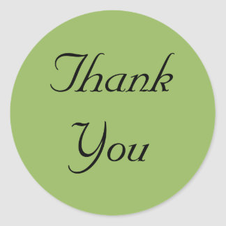 Green Regency Thank You Stickers