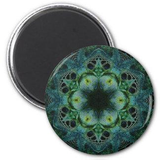 Green Reptile 6 Cm Round Magnet
