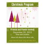 Green Retro Christmas Program Flyer