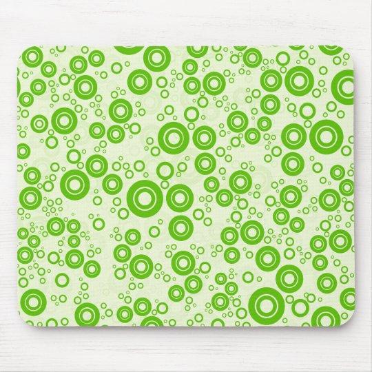 Green Retro Circle Random Pattern Mouse Mat