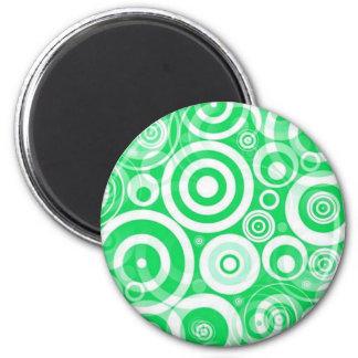 green_retro_circles fridge magnet