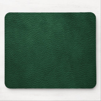 Green Retro Custom Leather Mouse Mat