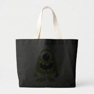 Green Retro Cute Monster Tote Bag