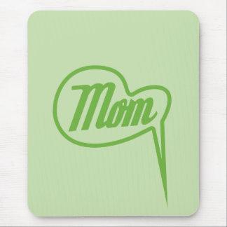 green retro mom speech bubble mousepad