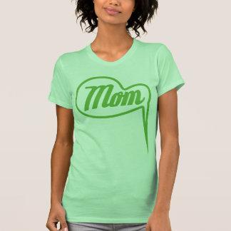 green retro mom speech bubble t-shirt