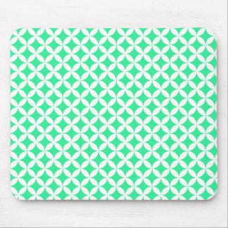 Green Retro pattern mousepad