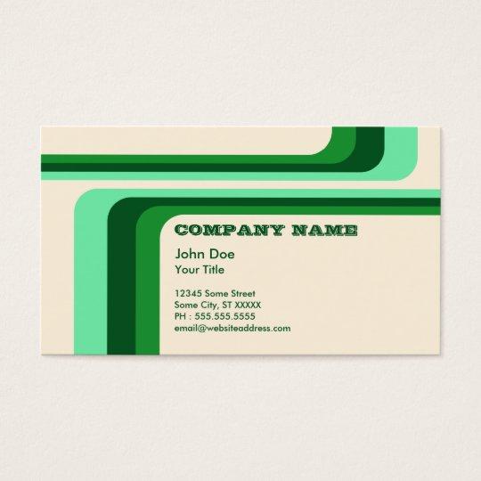 green retro stripes : v.2 : business card