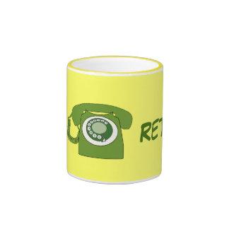 Green Retro Style Dial Telephone - Go Retro! Ringer Coffee Mug