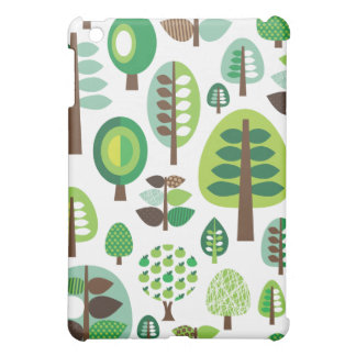 Green retro trees and plants ipad case