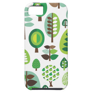 Green retro trees and plants iphone case iPhone 5 case