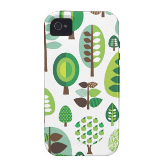 Green retro trees and plants iphone case vibe iPhone 4 cases
