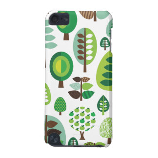 Green retro trees and plants ipod case iPod touch (5th generation) case