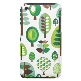 Green retro trees and plants ipod case iPod touch case