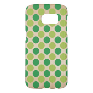 Green retro vintage circles pattern