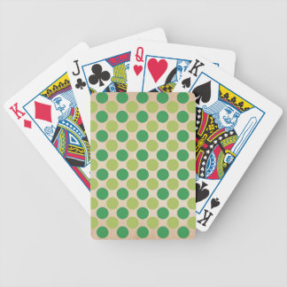 Green retro vintage circles pattern bicycle playing cards