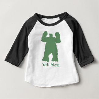 Green Retro Yeti Illustration Baby T-Shirt