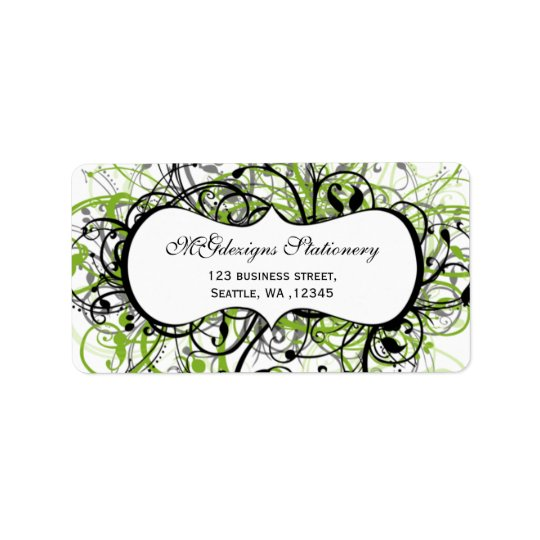 green, return address label