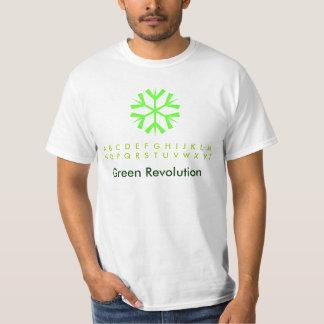 Green Revolution Snowflakes Tshirts