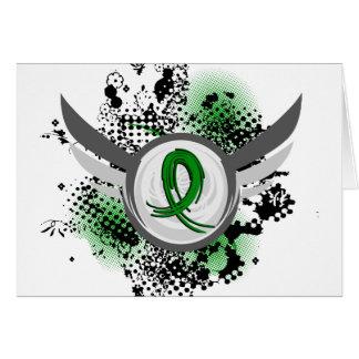 Green Ribbon And Wings Kidney Disease Card