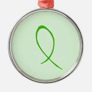 Green Ribbon Customizable Christmas Ornament