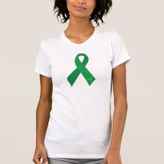 Green Ribbon Hearts T Shirt