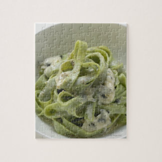Green ribbon pasta with Gorgonzola sauce Puzzles