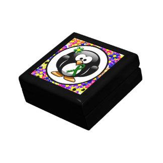 Green Ribbon Penguin Gift Box
