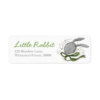 Green Ribbon, Rabbit Return Address Label